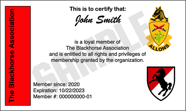 Membership Card Sample