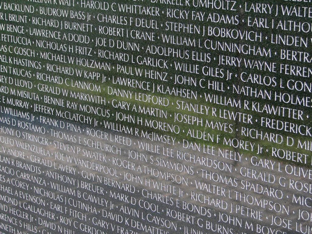 Names of Vietnam Veterans