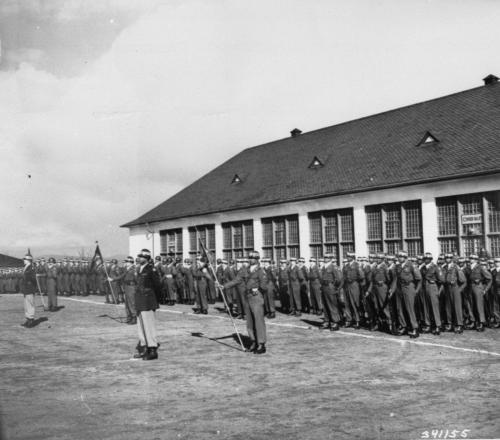 CONSTABULARY-Hanau-1st Constabulary Brig. farewell parade-BG