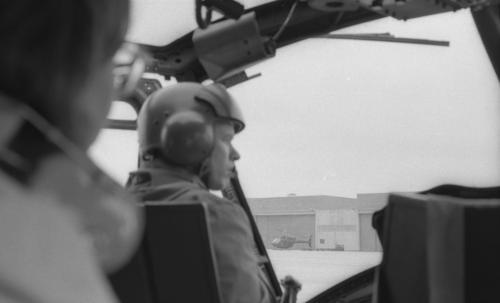 Fulda-Sickels Army Air Field-helicopter patrol along border-