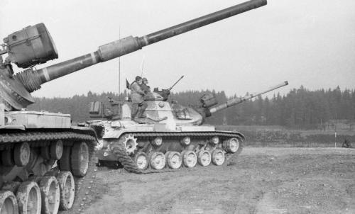 German border-Hof-Tank maneuvers-(Synovec)(B 8308)-15 Novemb